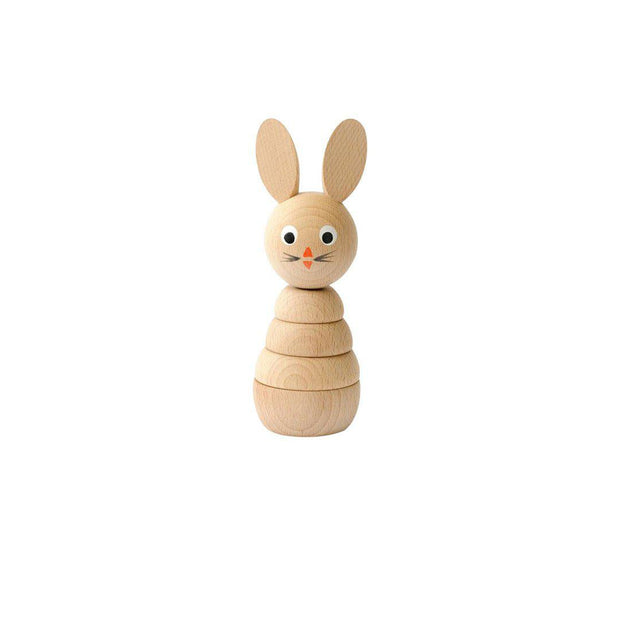 Sarah & Bendrix Wooden Stacker - Rabbit-Sorting & Stacking Toys-Default- Natural Baby Shower