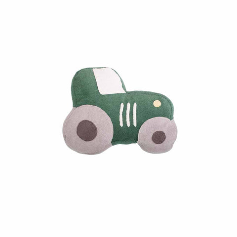 Sebra Little Driver Tractor Terry Cushion-Cushions- Natural Baby Shower