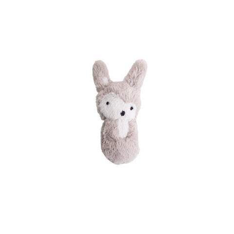 Sebra Plush Rabbit Rattle - Feather Beige-Rattles- Natural Baby Shower