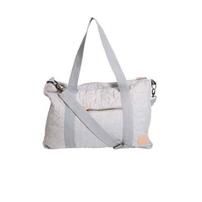 Sebra Quilted Changing Bag - Elephant Grey-Changing Bags- Natural Baby Shower