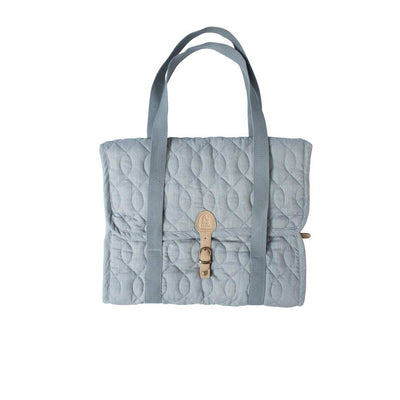 Sebra Quilted Diaper Bag - Elephant Grey-Changing Bags- Natural Baby Shower