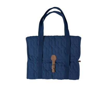 Sebra Quilted Diaper Bag - Royal Blue-Changing Bags- Natural Baby Shower
