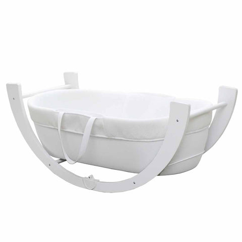 Shnuggle Dreami Moses Basket in White