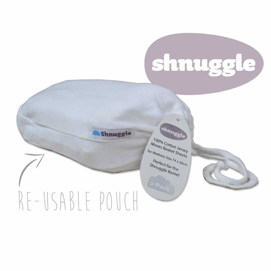 White Shnuggle Twin Pack Fitted Sheets