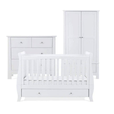 Silver Cross 3 Piece Furniture Set - Elegance Sleigh-Nursery Sets- Natural Baby Shower