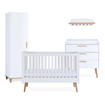 Silver Cross 4 Piece Furniture Set - Brighton-Nursery Sets-No Mattress- Natural Baby Shower