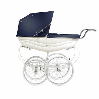 Silver Cross Balmoral Pushchair - White-Strollers- Natural Baby Shower