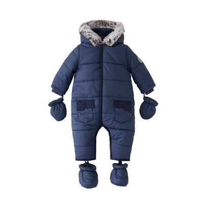 Silver Cross Classic Quilt Pramsuit - Navy-Coats & Snowsuits- Natural Baby Shower