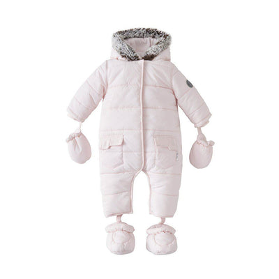 Silver Cross Classic Quilt Pramsuit - Pink-Coats & Snowsuits- Natural Baby Shower