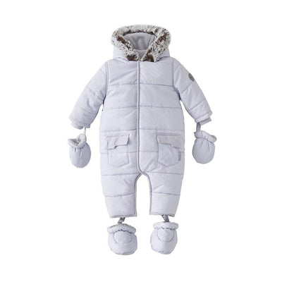 Silver Cross Classic Quilt Pramsuit - Grey-Coats & Snowsuits- Natural Baby Shower