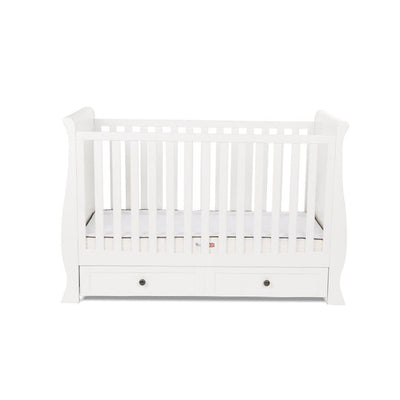Silver Cross Cot Bed - Nostalgia Sleigh - Pure White-Cot Beds- Natural Baby Shower