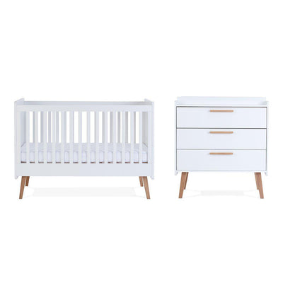 Silver Cross Cot Bed + Dresser - Brighton-Nursery Sets- Natural Baby Shower