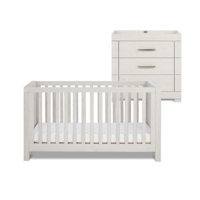 Silver Cross Cot Bed & Dresser - Coastline-Nursery Sets- Natural Baby Shower