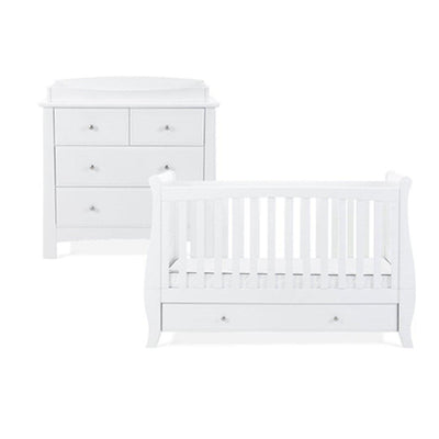 Silver Cross Cot Bed & Dresser - Elegance Sleigh-Nursery Sets- Natural Baby Shower