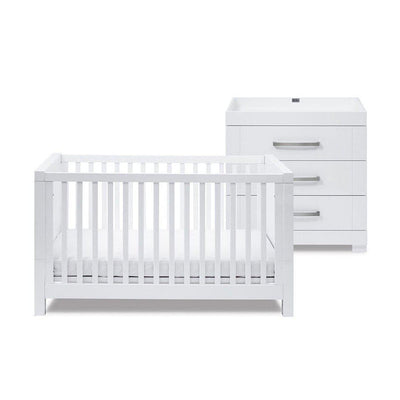 Silver Cross Cot Bed & Dresser - Notting Hill-Nursery Sets- Natural Baby Shower