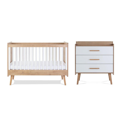 Silver Cross Cot Bed + Dresser - Westport-Nursery Sets-No Mattress- Natural Baby Shower
