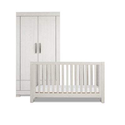Silver Cross Cot Bed & Wardrobe - Coastline-Nursery Sets- Natural Baby Shower