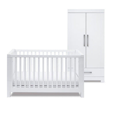 Silver Cross Cot Bed & Wardrobe - Notting Hill-Nursery Sets- Natural Baby Shower