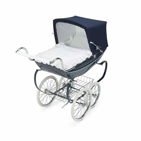 Silver Cross Dolls Pram - Oberon Navy-Dolls Prams & Accessories- Natural Baby Shower
