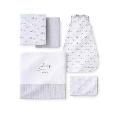 Silver Cross Jersey New Baby Pack - 5 Piece-Clothing Sets-One Size-White- Natural Baby Shower