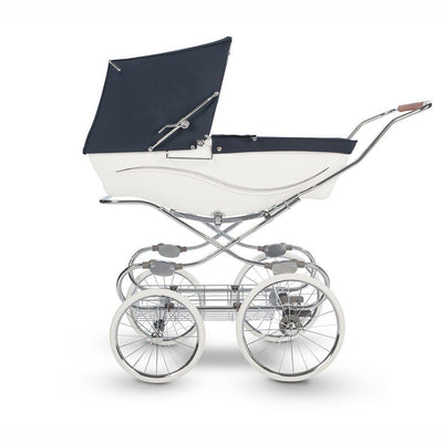 Silver Cross Kensington Pushchair - White/Navy-Strollers- Natural Baby Shower