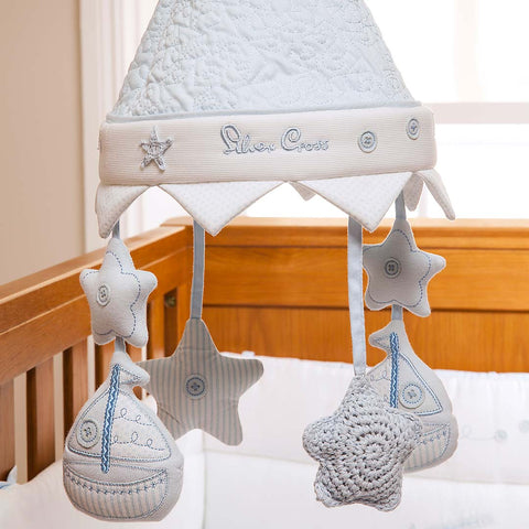 Silver Cross Musical Mobile - Vintage Blue-Baby Mobiles- Natural Baby Shower