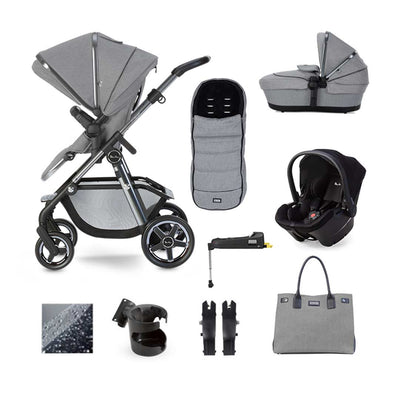 Silver Cross Pacific Autograph Simplicity Plus + Base Bundle - Rock-Travel Systems- Natural Baby Shower