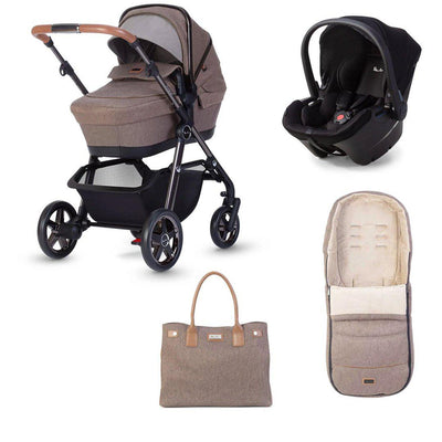 Silver Cross Pacific Autograph Travel System - Bronze-Travel Systems-No Base- Natural Baby Shower