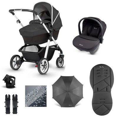 Silver Cross Pioneer 10 Piece Bundle - 2020 - Onyx-Travel Systems- Natural Baby Shower