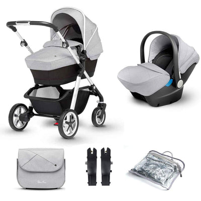 Silver Cross Pioneer 10 Piece Bundle - Platinum-Travel Systems- Natural Baby Shower