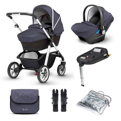 Silver Cross Pioneer 11 Piece Bundle - Midnight-Travel Systems-Simplicity- Natural Baby Shower