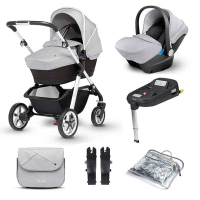 Silver Cross Pioneer 11 Piece Bundle - Platinum-Travel Systems-Simplicity- Natural Baby Shower
