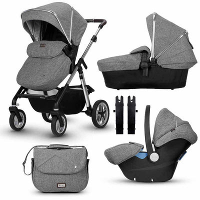 Silver Cross Pioneer Bundle - Brompton-Travel Systems- Natural Baby Shower