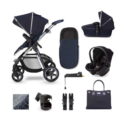 Silver Cross Pioneer Simplicity Plus + Base Bundle - Sapphire-Travel Systems- Natural Baby Shower