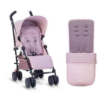 Silver Cross Pop Pushchair & Footmuff - Blush-Strollers- Natural Baby Shower