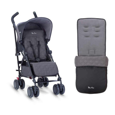 Silver Cross Pop Pushchair & Footmuff - Flint-Strollers- Natural Baby Shower