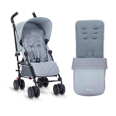 Silver Cross Pop Pushchair & Footmuff - Quarry-Strollers- Natural Baby Shower