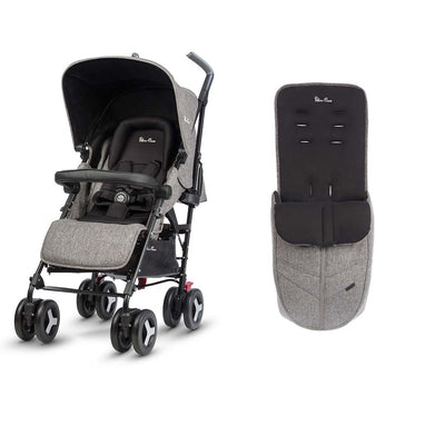 Silver Cross Reflex Pushchair & Footmuff - Brompton-Strollers- Natural Baby Shower