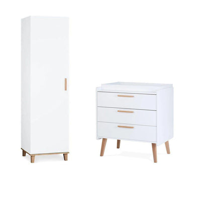 Silver Cross Wardrobe + Dresser - Brighton-Nursery Sets-Brighton- Natural Baby Shower