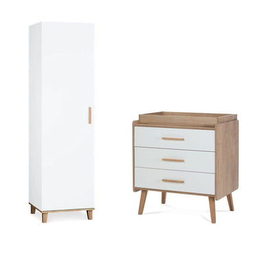 Silver Cross Wardrobe + Dresser - Westport-Nursery Sets-Westport- Natural Baby Shower