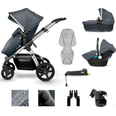 Silver Cross Wave Bundle - Slate-Travel Systems- Natural Baby Shower