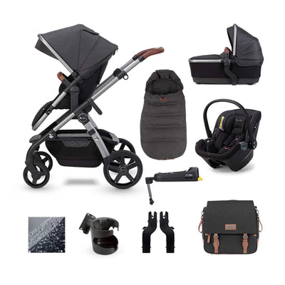 Silver Cross Wave Dream + Base Bundle - Charcoal-Travel Systems- Natural Baby Shower