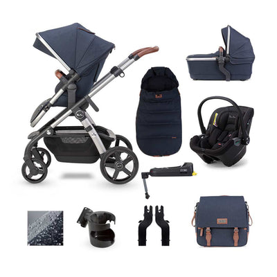 Silver Cross Wave Dream + Base Bundle - Indigo-Travel Systems- Natural Baby Shower