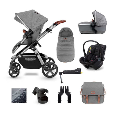 Silver Cross Wave Dream + Base Bundle - Zinc-Travel Systems- Natural Baby Shower