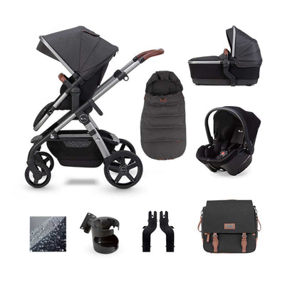 Silver Cross Wave Simplicity Plus Bundle - Charcoal-Travel Systems- Natural Baby Shower