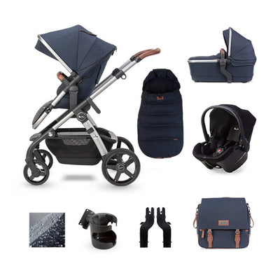 Silver Cross Wave Simplicity Plus Bundle - Indigo-Travel Systems- Natural Baby Shower