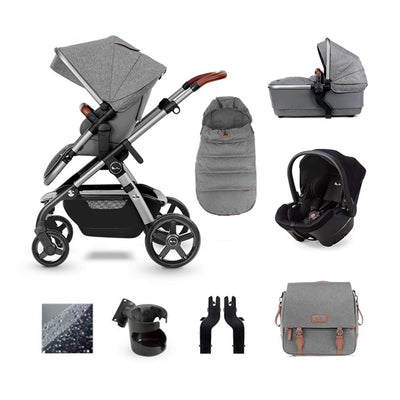 Silver Cross Wave Simplicity Plus Bundle - Zinc-Travel Systems- Natural Baby Shower
