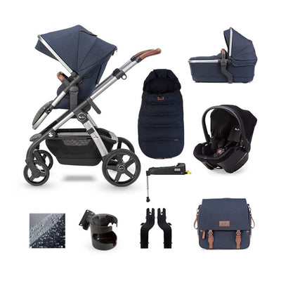 Silver Cross Wave Simplicity Plus + Base Bundle - Indigo-Travel Systems- Natural Baby Shower