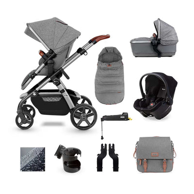 Silver Cross Wave Simplicity Plus + Base Bundle - Zinc-Travel Systems- Natural Baby Shower