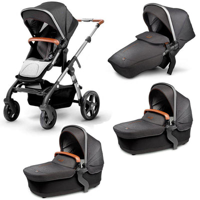 Silver Cross Wave Twin Bundle - Granite-Strollers- Natural Baby Shower